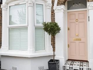 Pink front door The London Door Company